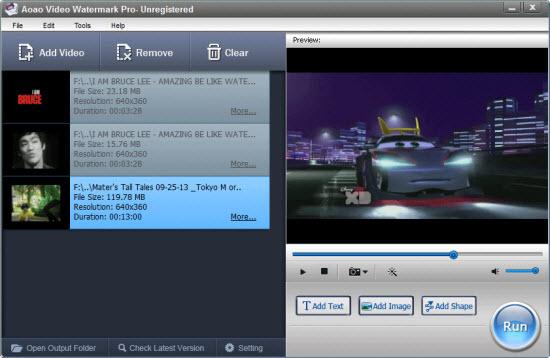Aoao Video Watermark Pro Screenshot