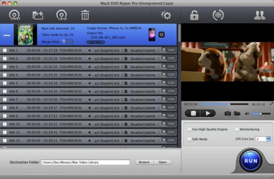 MacX DVD Ripper Pro Screenshot