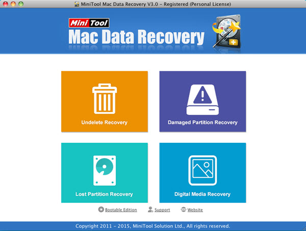 MiniTool Mac Data Recovery Screenshot