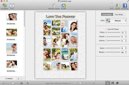 CollageIt Pro for Mac Screenshot