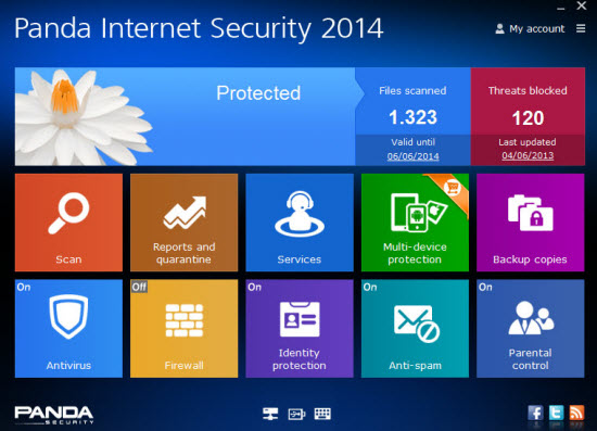 Panda Internet Security 2014 Screenshot