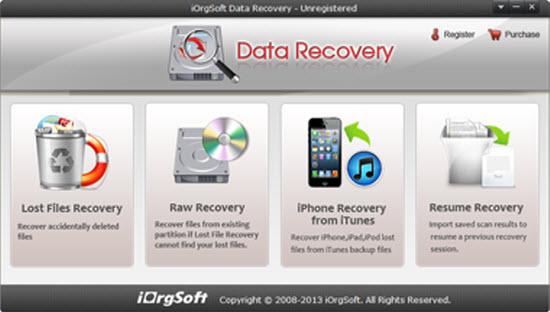 iOrgsoft Data Recovery Screenshot