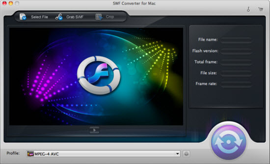 iOrgsoft SWF Converter for Mac Screenshot