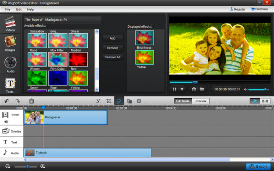 iOrgsoft Video Editor Screenshot