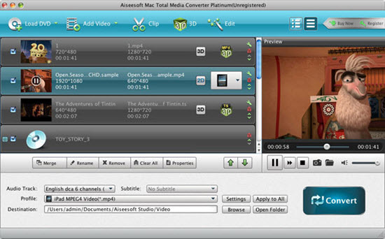 Aiseesoft Mac Total Media Converter Platinum Screenshot