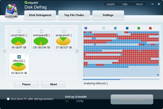 Amigabit Disk Defrag Screenshot