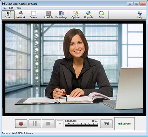 Debut Video Capture Software Screenshot