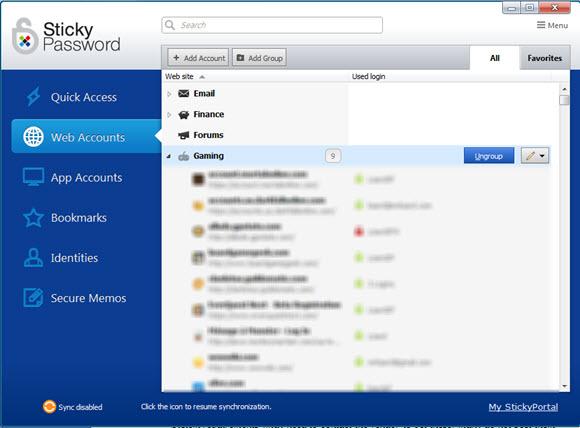 Sticky Password 7 Screenshot