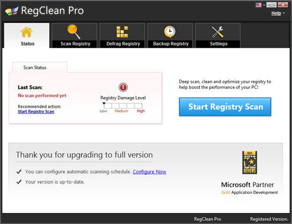 Systweak RegClean Pro Screenshot