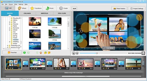 AMS SmartSHOW 3D Deluxe Screenshot