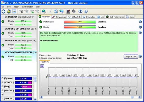Hard Disk Sentinel Standard Screenshot