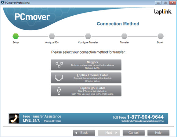 Laplink PCmover Professional Screenshot