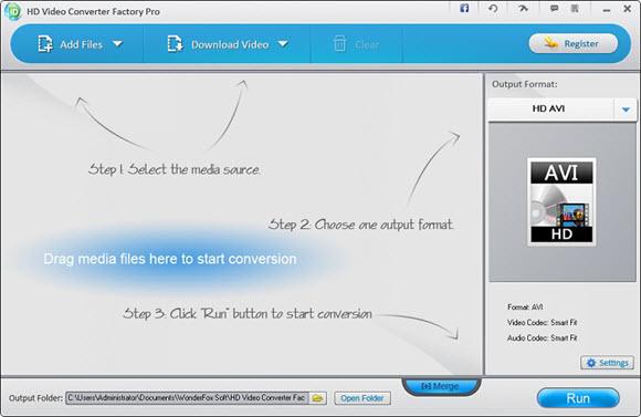 Wonderfox HD Video Converter Factory Pro Screenshot