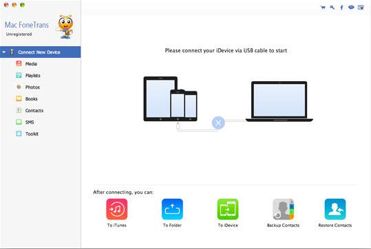 Aiseesoft Mac FoneTrans Screenshot