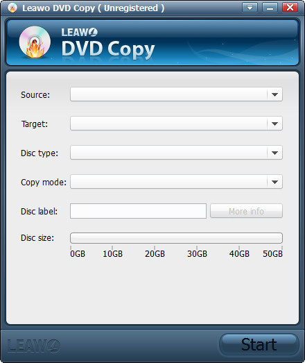 Leawo DVD Copy Screenshot