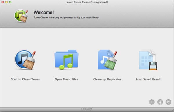 Leawo Tunes Cleaner for Mac Screenshot