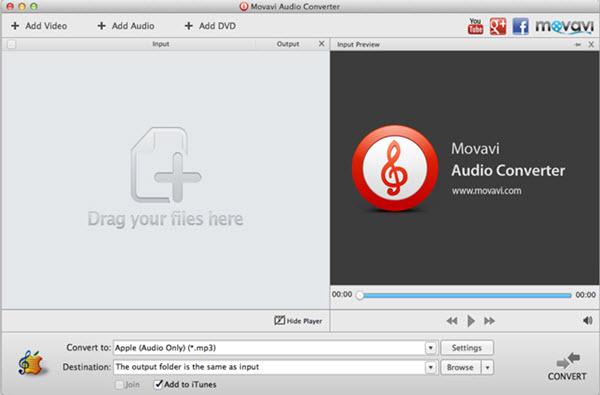 Movavi Audio Converter for Mac Screenshot