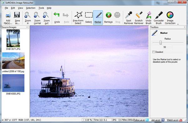 SoftOrbits Photo Retoucher Screenshot
