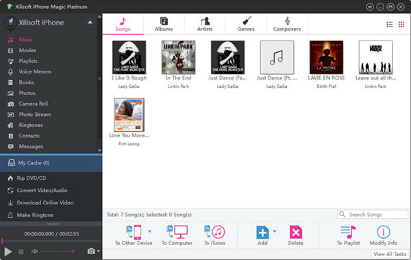 Xilisoft iPhone Magic Platinum Screenshot