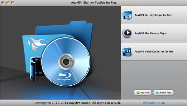 AnyMP4 Blu-ray Toolkit for Mac Screenshot