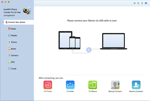 AnyMP4 iPhone Transfer Pro for Mac Screenshot
