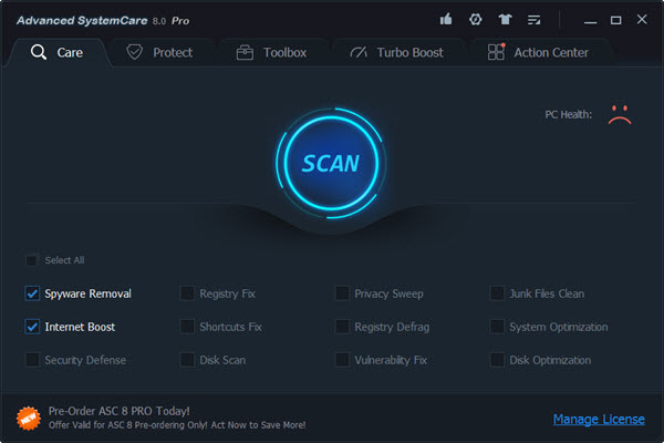 1x1.trans IObit Advanced SystemCare 8 Pro 1 Year (100% OFF)