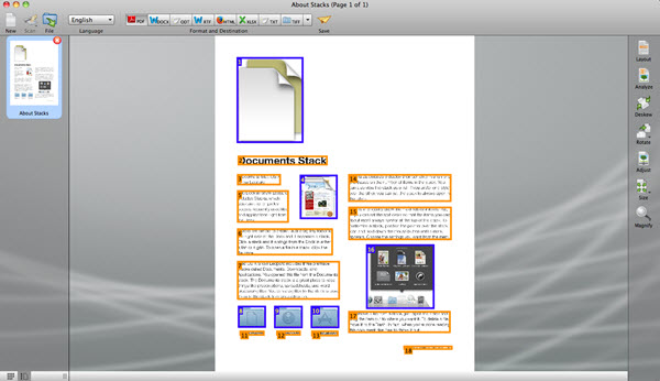 Readiris Pro 14 for Mac Screenshot