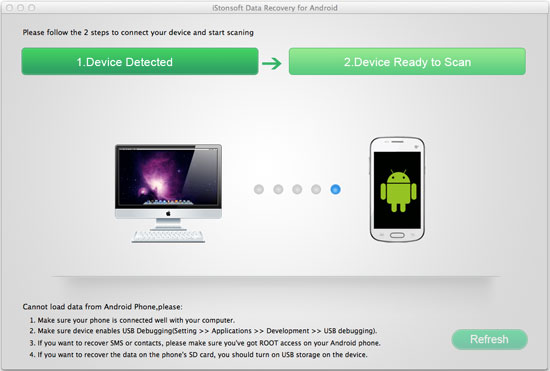 iStonsoft Android Data Recovery for Mac Screenshot