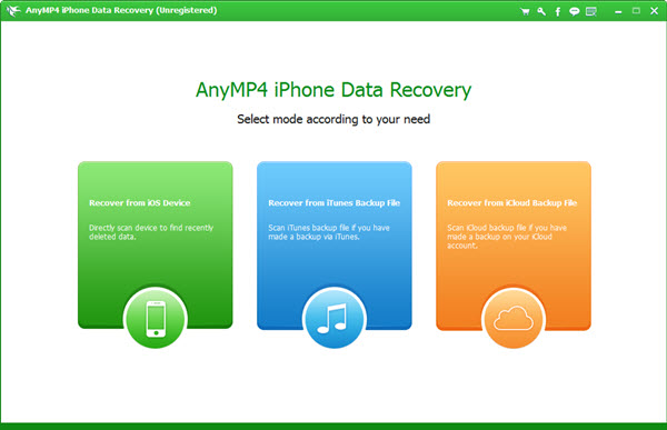 AnyMP4 iPhone Data Recovery Screenshot