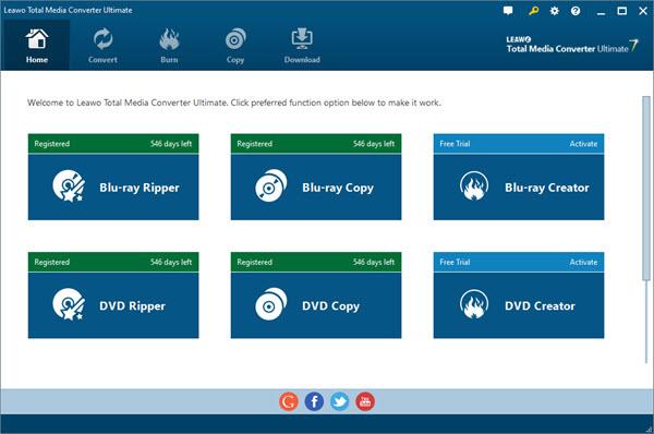 Leawo Total Media Converter Ultimate Screenshot