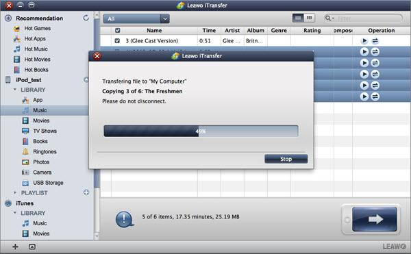 Leawo iTransfer for Mac Screenshot