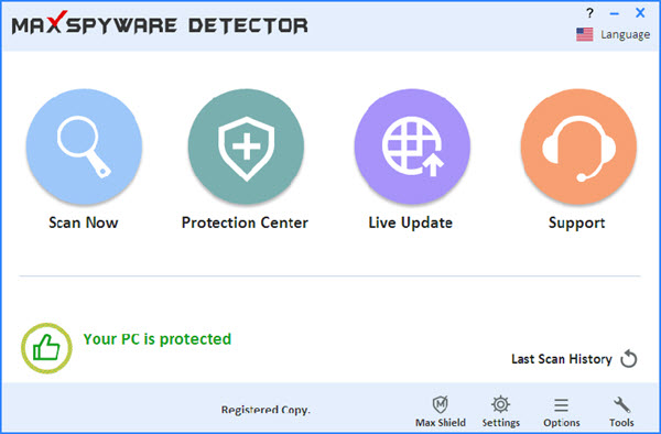 Max Secure Spyware Detector Screenshot