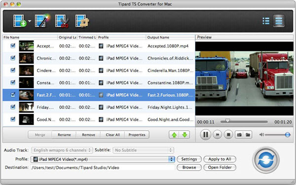 Tipard TS Converter for Mac Screenshot