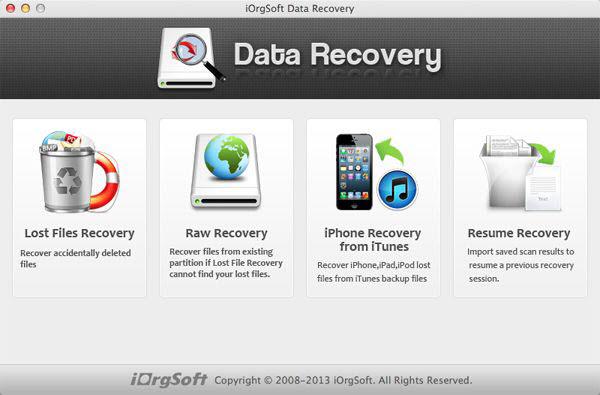 iOrgsoft Data Recovery for Mac Screenshot