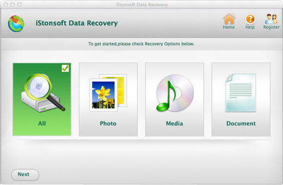 iStonsoft Data Recovery for Mac Screenshot