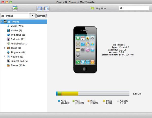iStonsoft iPhone to Mac Transfer Screenshot