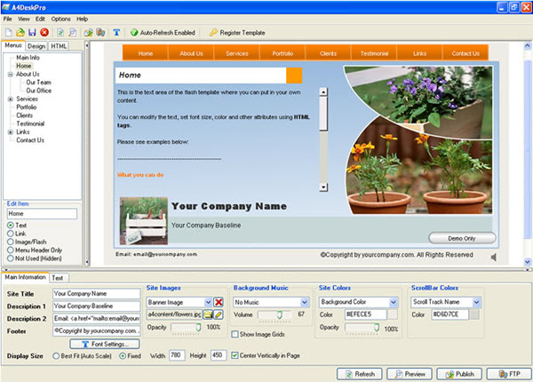 A4Desk Pro Home Edition Screenshot