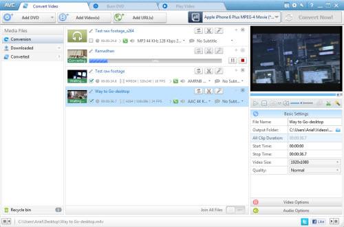 Any Video Converter Pro Screenshot