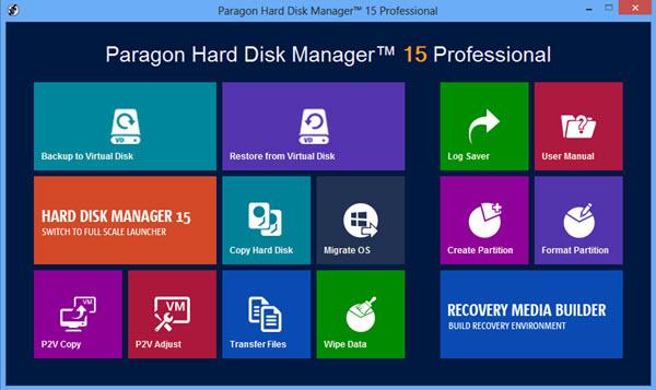 Paragon Hard Disk Manager 15 Professional Screenshot