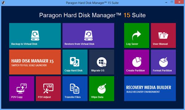 Paragon Hard Disk Manager 15 Suite Screenshot