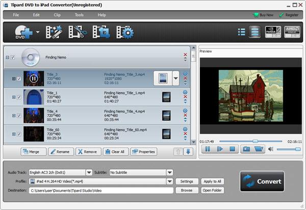 Tipard DVD to iPad Converter Screenshot