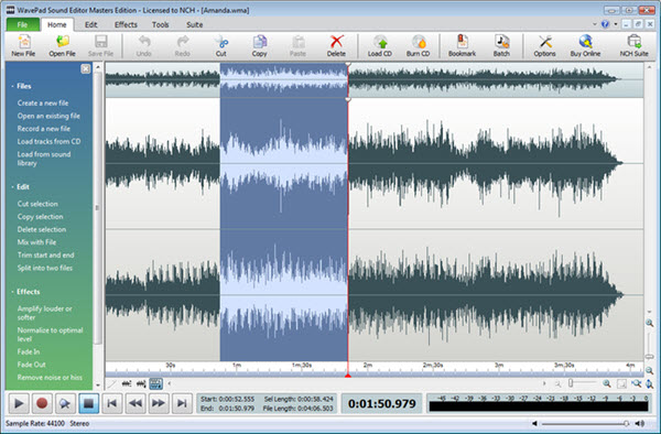 WavePad Sound Editor Masters Edition Screenshot