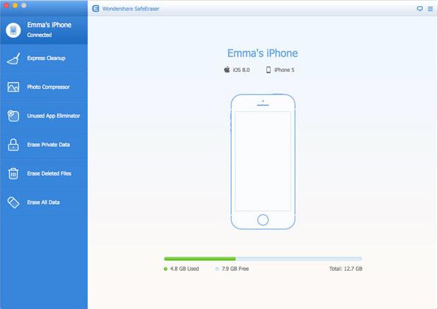 Wondershare SafeEraser for Mac Screenshot