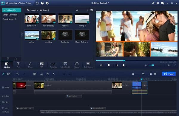 Wondershare Video Editor Screenshot