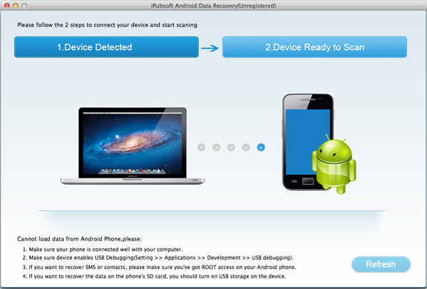 iPubsoft Android Data Recovery for Mac Screenshot