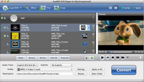 AnyMP4 DVD Ripper for Mac Screenshot