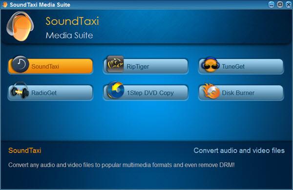 SoundTaxi Media Suite Screenshot