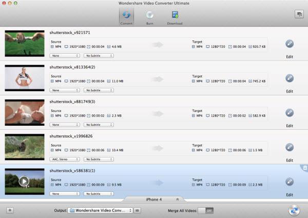 Wondershare Video Converter Ultimate for Mac Screenshot