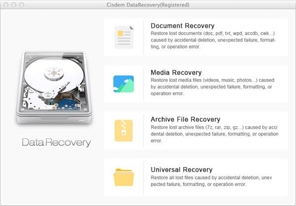 Cisdem DataRecovery for Mac Screenshot