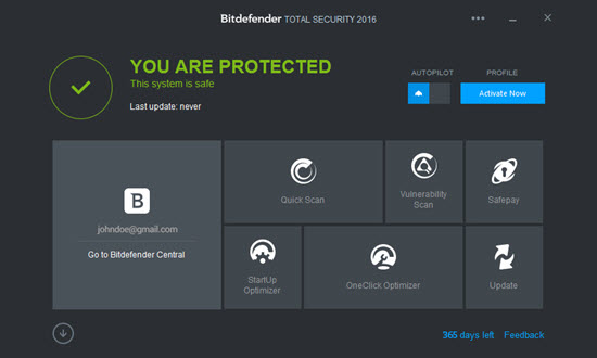 Bitdefender Total Security 2016 Screenshot